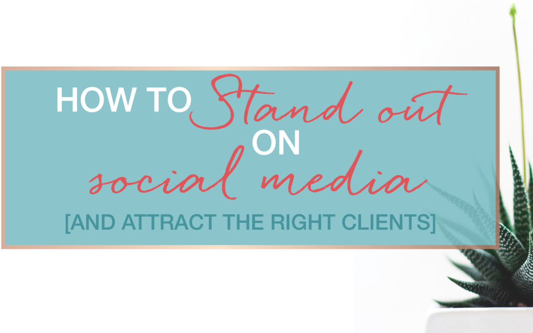 How to stand out on Social Media [and attract the right clients]: