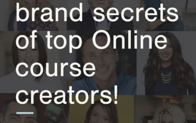 9 personal brand secrets of top online course creators