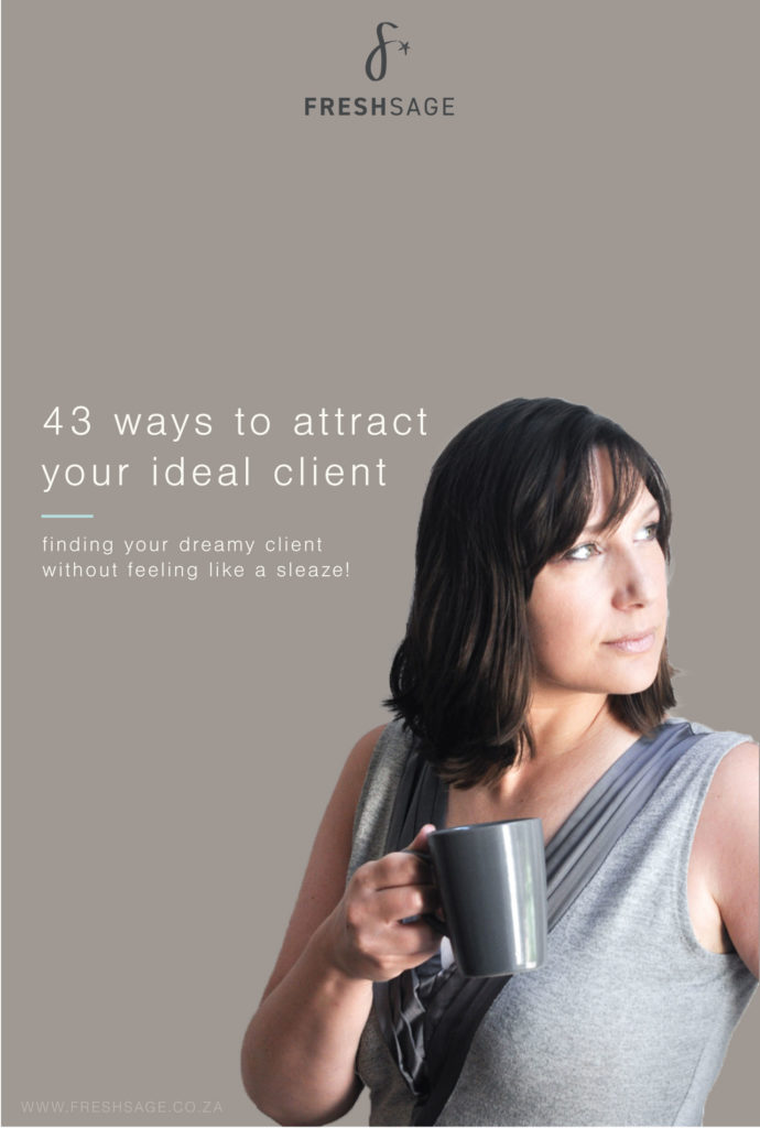 43 ways you can attract you ideal client, especially small business owners who want to find ways to attract their target audience without feeling sleazy.