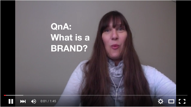 [#QnA] What is a Brand? [Video]