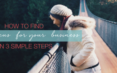 How to find focus for your business – in three simple steps