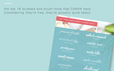 16 free script + brush fonts hidden in CANVA