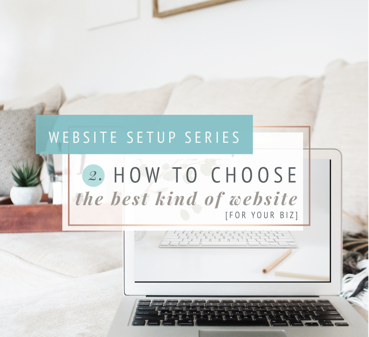 THE WEBSITE SETUP SERIES | Q2: How to choose the best kind of website for your business