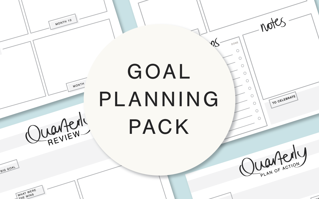 Guess What time it is?!?!?! Time to set some fresh goals!! and I have just the right pack for you!